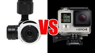DJI INSPIRE 1 VS GOPRO 4 (Black) and Panasonic GH4 - HeliPal.com