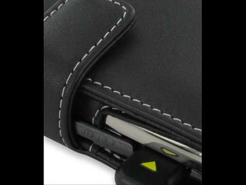 PDair Leather Case for Samsung Jack SGH-i637 - Book Type (Black)