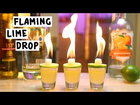 Flaming Lime Drop