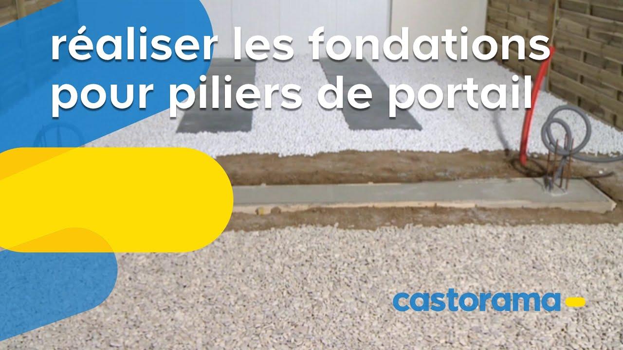 Realiser Les Fondations Pour Piliers De Portail Castorama Youtube