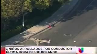 3 niños arrollados por conductor en Rolando