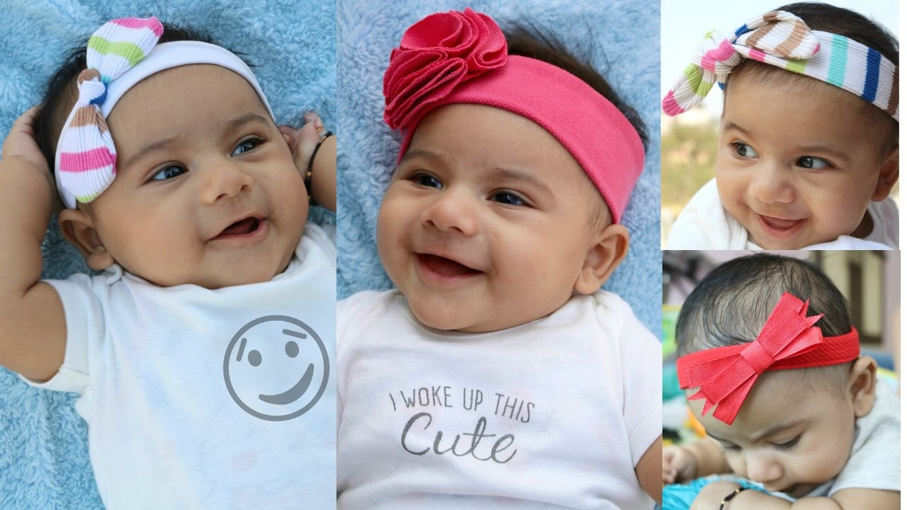 Headbands for babies and toddlers from old clothes Tutorial: 4 cute styles - YouTube