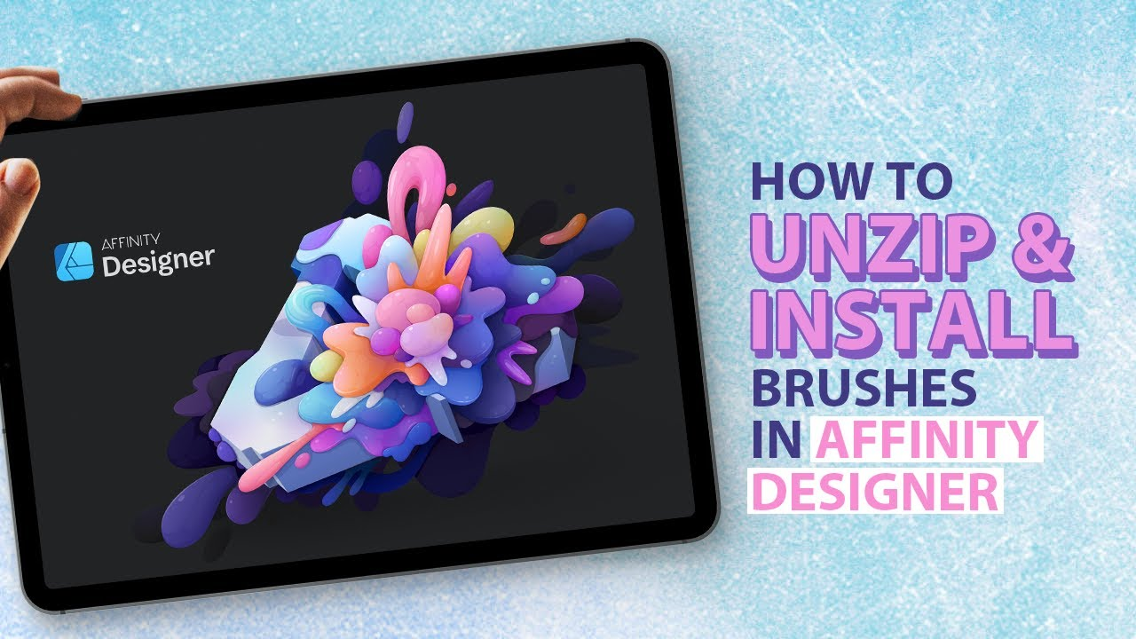 How to unzip and install Affinity Brushes on your iPad