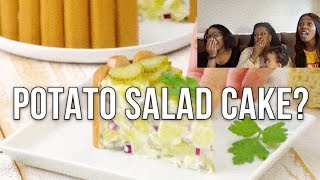 BLACK FAMILY REACTS TO POTATO SALAD CAKE *FUNNY*