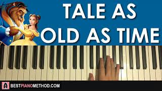 Video HOW TO PLAY - Beauty And The Beast - Tale As Old As Time (Piano Tutorial Lesson) download MP3, 3GP, MP4, WEBM, AVI, FLV Mei 2018
