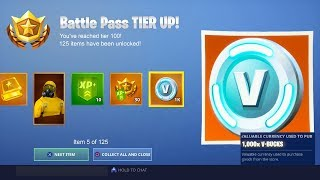 SEASON 10 BATTLE PASS! (Fortnite: Bataille Royale)