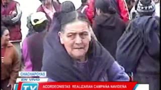 Chachapoyas: Acordeonistas realizan campaña navideña en San Francisco del Yeso 171213