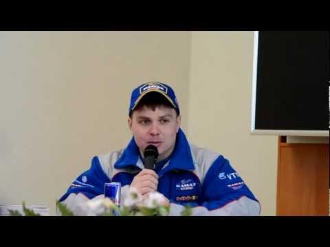 Пилот команды «КАМАЗ-мастер» Эдуард Николаев в СПбПУ