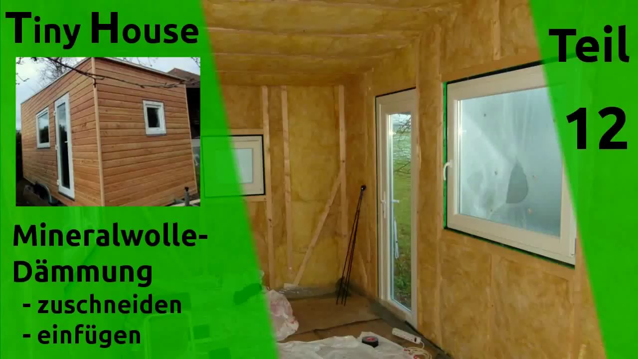 tiny house selber bauen d mmung w nde dach teil 12 youtube. Black Bedroom Furniture Sets. Home Design Ideas
