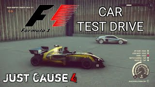 Just Cause 4: F1 Racing Car Test Drive. Fomula One