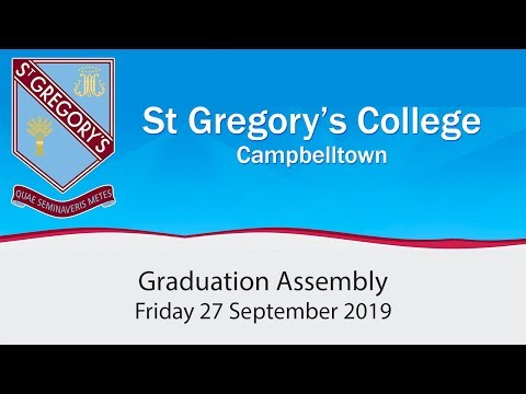 Sebastian De Brennan asked to address the 2019 graduating class of St Gregory's College Campbelltown