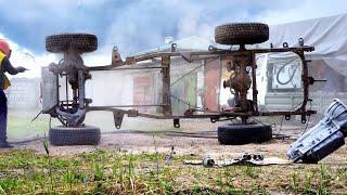 Пескоструили как могли... Mitsubishi Pajero M57 SWAP