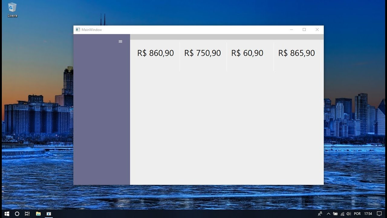 C# WPF  NET Core UI Design: Responsive Layout and Menu Navigation Drawer