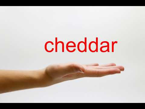 How to Pronounce cheddar - American English