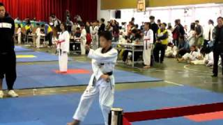 曾經到過韓國拿跆拳道品勢金牌的選手1