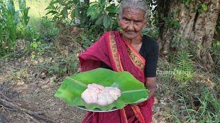బామ్మా చేతి వంట | మేక మెదడు ఫ్రై  | Bheja Fry |Cleaning and Cooking in Village| Country foods