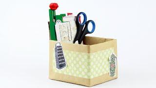 Как сделать картонную коробку для заметок своими руками