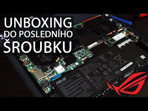 Unboxing Asus ROG STRIX notebook s grafikou NVIDIA GTX 1060