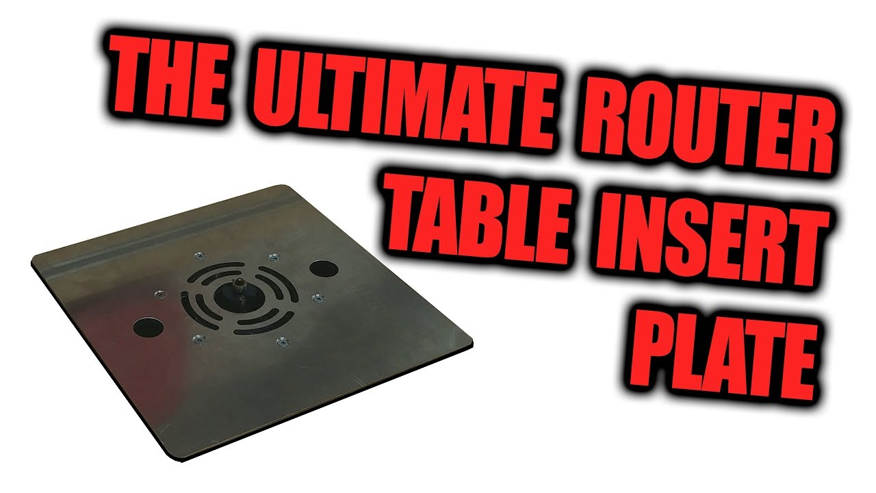 The ultimate router table insert plate dust collection upgrade diybuilds woodworking diy greentooth Image collections