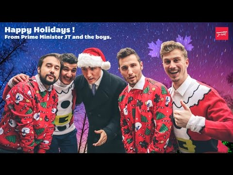 WE GOT OUR HOLIDAY CARD WITH PRIME MINISTER OF CANADA JUSTIN TRUDEAU