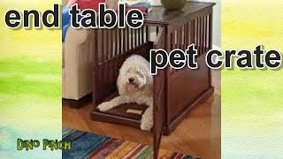 Wooden End Table Pet Crate Review & Assembly
