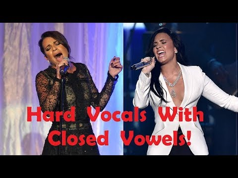 Female Singers - HARD VOCALS with CLOSED VOWELS