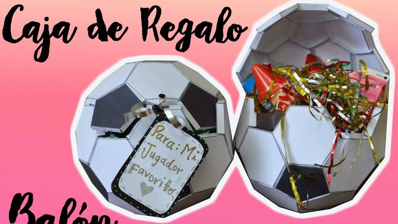 Balón De Fútbol Caja De Regalo