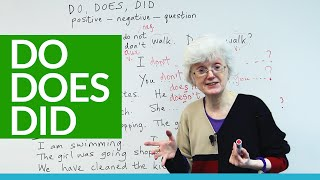 Basic English - How and when to use DO, DOES, and DID