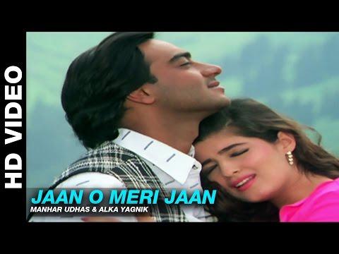 Jaan O Meri Jaan - Jaan | Manhar Udhas & Alka Yagnik | Ajay Devgn, Amrish Puri & Twinkle Khanna