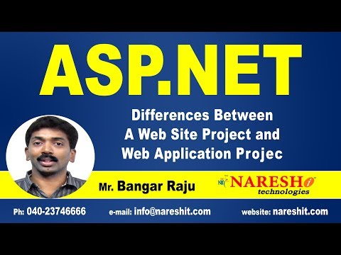 Differences between a Web Site Project and Web Application Project in ASP.NET | ASP.NET Tutorials