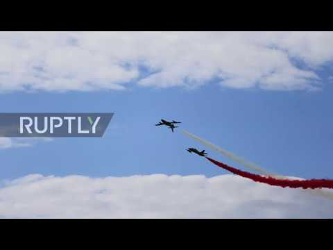 Russia: Stunning images capture best of MAKS-2017 airshow *STILLS*