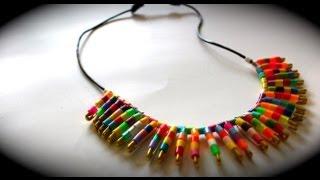 Diy | Trendy Tribal Collar Necklace +sliding Knot Demo *gift Ideas