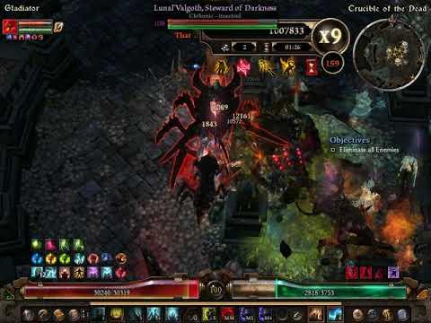 Grim Dawn - Summoner Ritualist Skelletal master - Crucible 150-170 in 12  :20 min
