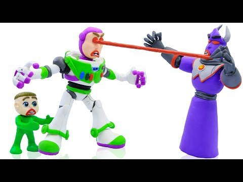 LUKA BABY MEETS BUZZ LIGHTYEAR TOY STORY 💟 Stop Motion Cartoons Animation