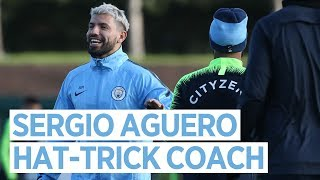 AGUERO THE HAT-TRICK COACH | Post Arsenal Training