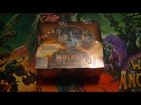 Unboxing World Of Warcraft TCG - Heroes Of Azeroth Booster Box