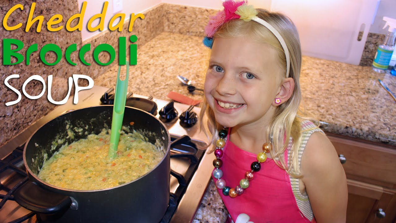 Kid Size Cooking: Broccoli Cheddar Soup