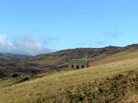 Deserted Crofters Cottage Glen Quaich Highland Perthshire Scotland