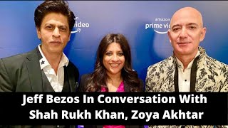 Amazon CEO Jeff Bezos In Conversation With Bollywood Superstar Shahrukh Khan and Zoya Akhtar | NewsX
