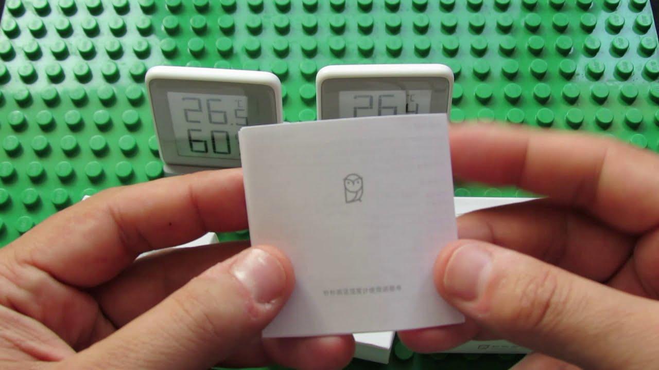 Unboxing Xiaomi LCD Screen Display Digital Moisture Meter Thermometer  Temperature Humidity Sensor