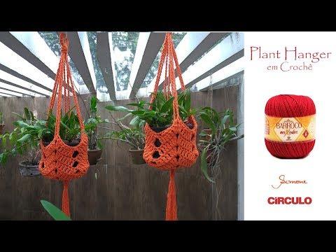 Plant Hanger em Crochê passo a passo Prof. Simone Eleotério