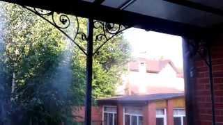 Охлаждение террасы Донецк (система туманообразования)(Системы туманообразования ПрофТуман г. Донецк, ул. Карпинского 24 тел.: (095) 773-09-53; (062) 213-02-50 http://tuman.dn.ua/, 2013-07-31T14:06:11.000Z)