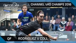 Squash: Rodriguez v Coll - Channel VAS Championship at St Georges Hill 2016 QF Highlights