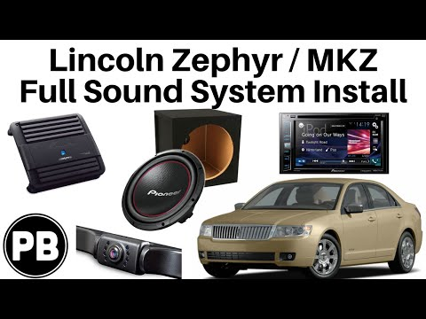 2005 - 2009 Lincoln Zephyr / MKZ Stereo, Amp, Sub, Camera Install