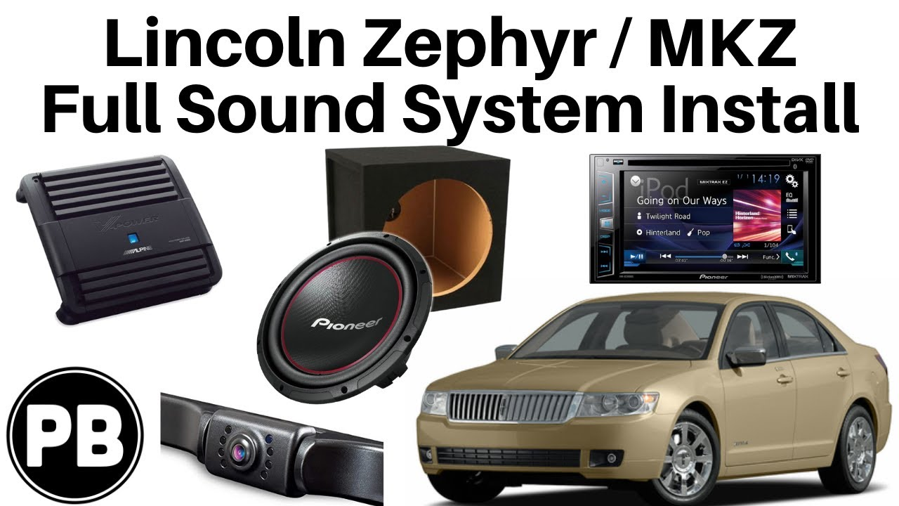 2005 2009 lincoln zephyr mkz stereo amp sub camera install [ 1280 x 720 Pixel ]