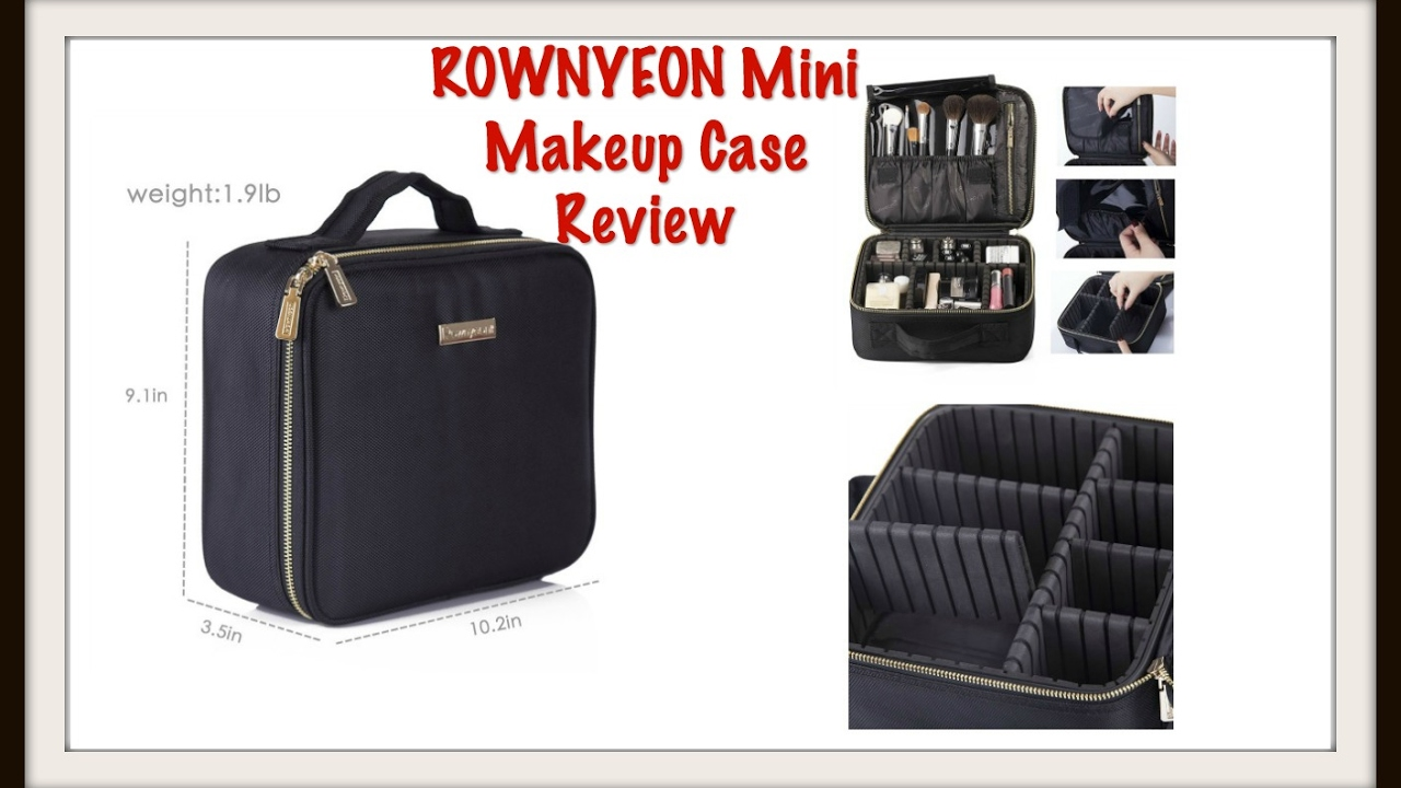b21c286c13d070 Review of the ROWNYEON Mini Makeup Case - YouTube