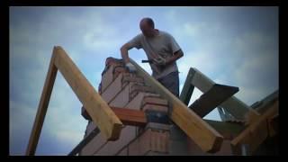 як зробити двосхилий дах на будинку