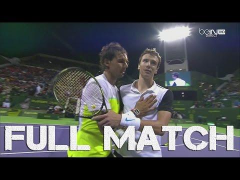 Doha Open 2016 : Rafael Nadal vs Andrey Kuznetsov (1/4 Finale), FULL MATCH HD