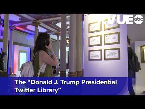 Look Inside The Daily Show's SXSW 2019 'Donald J. Trump Presidential Twitter Library' In Austin
