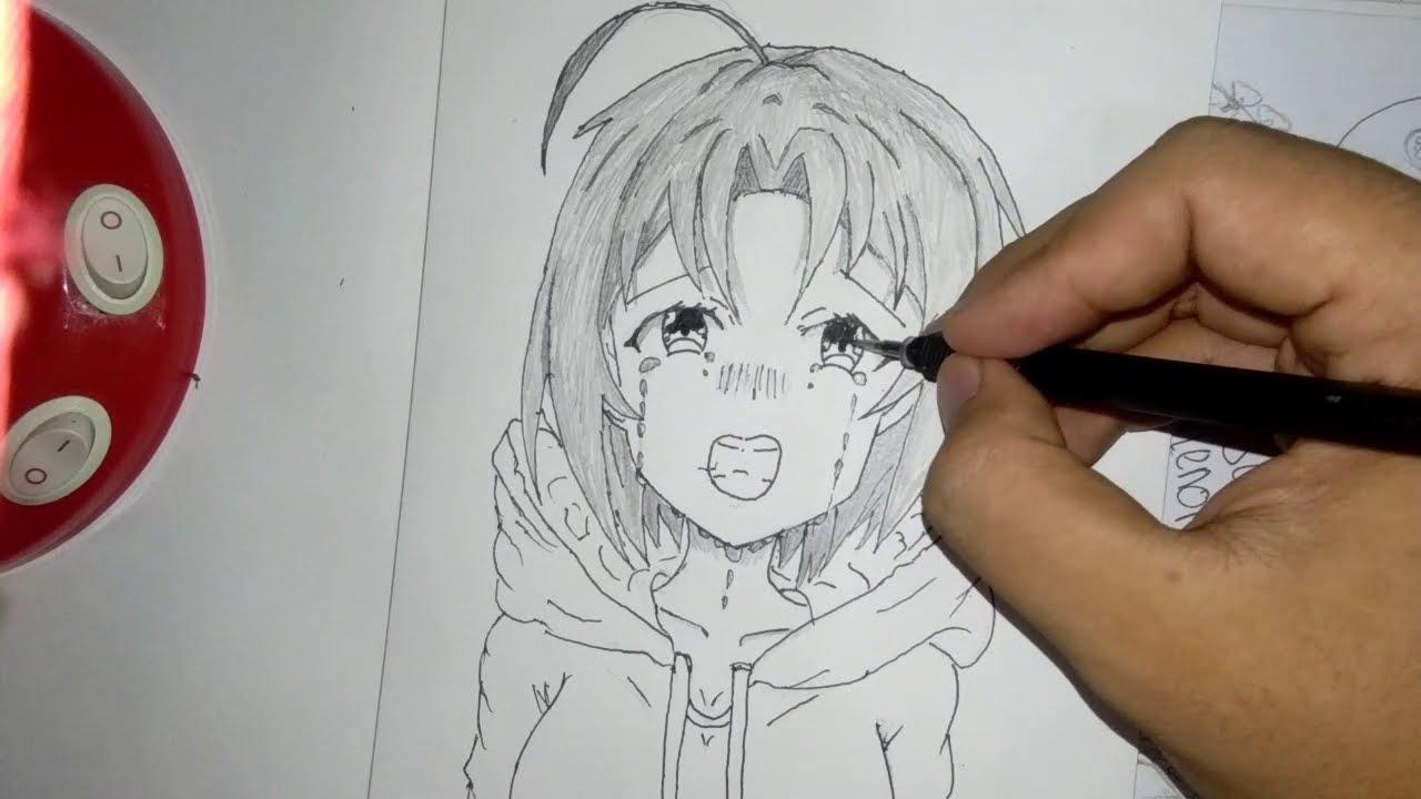 Menggambar Anime Cewek Menangis Youtube